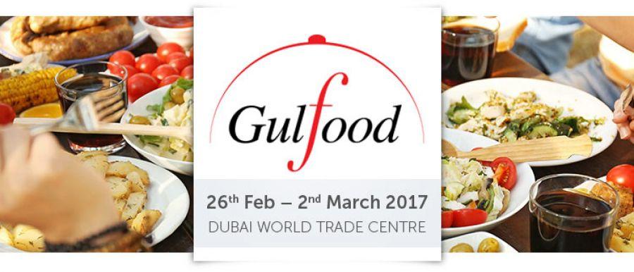 Ramy expose ses produits au salon Gulfood 2017 à Dubai.