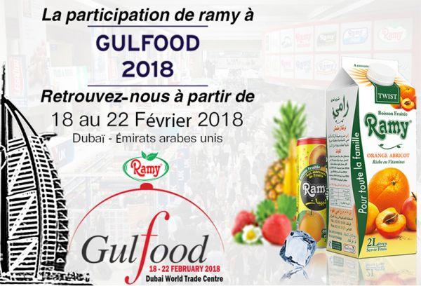 Ramy participe au salon « Gulfood 2018 »