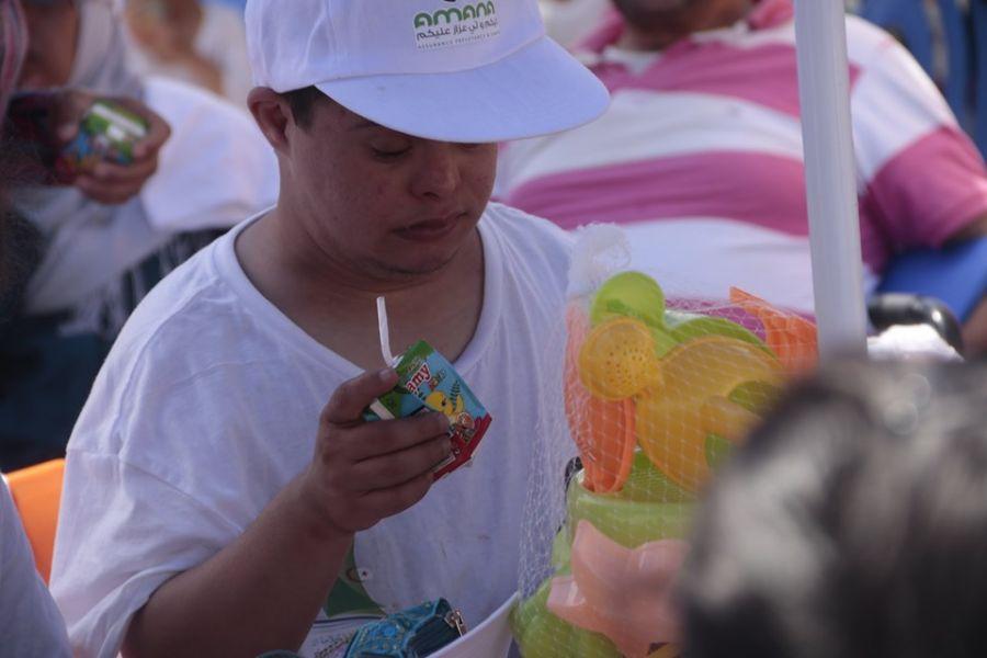 Ramy et la fédération Algérienne de voile célèbrent la journée internationale de l'enfant.