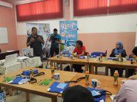 Ramy participe à la vulgarisation de la voile auprès des journalistes.